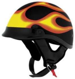 Skid Lid Traditional Half Helmet - Skid Lid Traditional Adult Street Motorcycle Helmet - Flat Black / 2X-Large