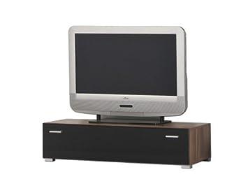 Lowboard nussbaum schwarz  Lowboard TV-Möbel TV-Board TV-Bank Unterschrank, Nussbaum ...