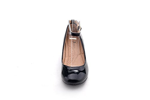 Pictures of Mila Girls Litte Girls Low Wedges Pumps Black 13 M US 2