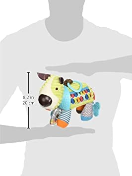 Fox SK-306206 Skip Hop Bandana Buddies Baby Activity and Teething Toy with Multi-Sensory Rattle and Textures