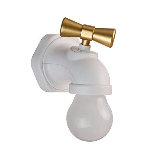 ETERNAL QUALITY Badezimmer Waschbecken Wasserhahn Messing Hahn Waschraum Mischer Mischbatterie Tippen Sie auf wenig Nachtlichter Aufladen über USB Voice Feed helle Augen