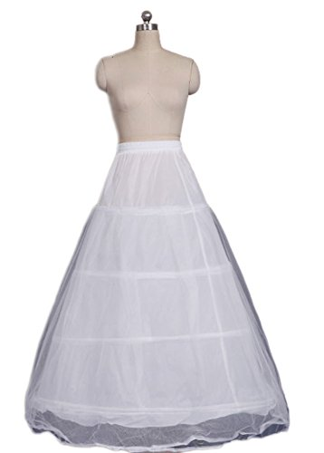 Zukzi Women's Gorgeous Victorian Train Ball Gown Wedding Dress, Accessory 4 hoops Petticoat by Zukzi