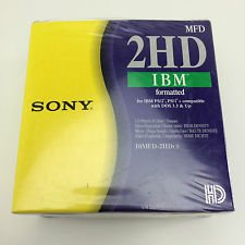 SONY 2HD IBM FORMATTED 1.44MB PACK OF 10 FLOPPY DISKS - PN: 10MFD-2HDCF - EAN: 4901780190737 - (Dispatched and sold by Mixvale Collections)