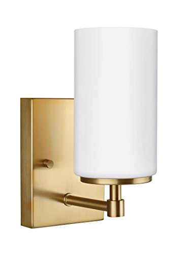 Sea Gull Lighting 4124601-848 Alturas One Light Wall / Bath Sconce Satin Bronze - Bronze Satin Chandelier