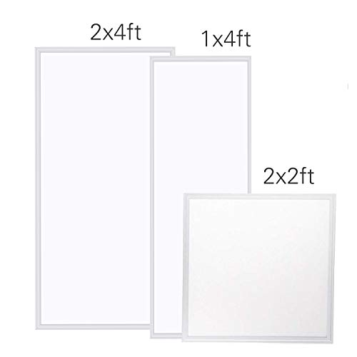 LED Panel Light,2x4 FT,2 Pack,0-10V Dimmable,ETL Listed,60W with 7800 Lumens 5000K Daylight White Color, Drop Ceiling Flat LED Light Panel,Recessed Edge-Lit Troffer Fixture by WYZM (Image #4)