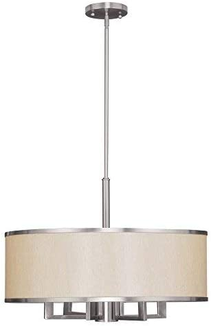 Livex Lighting 6296-91 Park Ridge Brushed Nickel Chandelier