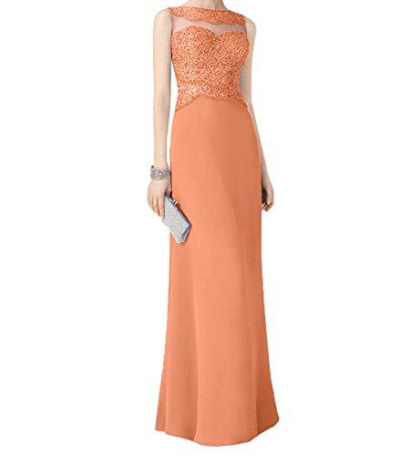 Chiffon Linie Orange Festlichkleider La Durchsichtig Promkleider Braut Langes Abendkleider Ballkleider A mia Pailletten 7qFwC78Z