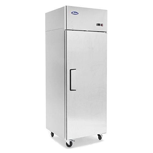 Commercial Refrigerator Freezer,ATOSA MBF8001 Single 1-Door Top Mount Stainless Steel Reach In Commercial Refrigerators Freezer For Restaurant Kitchen 22.6 cu.ft -10℉—0℉