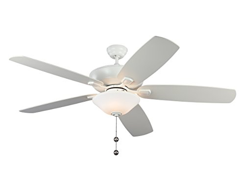Monte Carlo 5CSM60RZWD Colony Super Max Plus 60' Outdoor Ceiling Fan with Light, Rubberized (Monte Carlo Select Ceiling Fan)