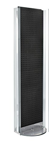 New Black 2 Sided Pegboard Floor Display Stand with Revolving Base 16''w X 60'' H by Pegboard Display (Image #7)