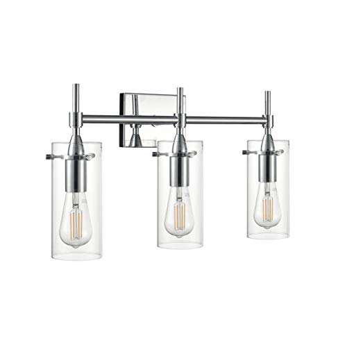 Effimero 3 Light Bathroom Vanity Light | Chrome Hallway Wall Sconce LL-WL33-2PC