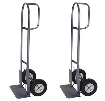 Milwaukee Hand Trucks 37029 D-Handle Truck with 10-Inch Puncture Proof Tires and 18-Inch Toe Plate (2-(Pack)) (Milwaukee 800 Lb Capacity D Handle Hand Truck)