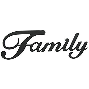 - Family Black Metal Wall Word