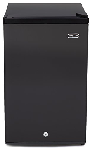 Whynter CUF-301BK 3.0 cu. ft. Energy Star Upright Freezer with Lock, Black (Freezer Slide Out Basket)