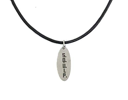 Be More Chill: Jewelry Collection (SQUIP Leather Pendant) 18' Leather Cord Necklace
