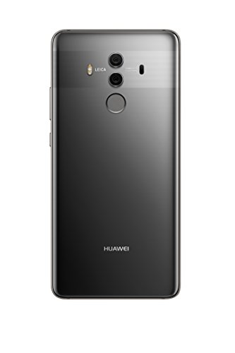 """Huawei Mate 10 Pro Unlocked Phone, 6"""" 6GB/128GB, AI Processor, Dual Leica Camera, Water Resistant IP67, GSM Only - Titanium Gray (US Warranty)"""
