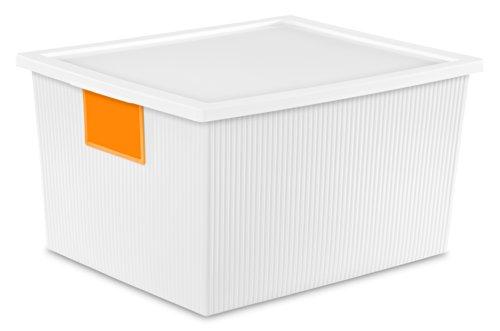 Sterilite 14338006 25 Quart/24 Liter ID Box, White, 6-Pack