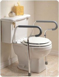 Sammons Preston Toilet Safety Frame, Toilet Handles for Elderly, Adjustable Commode Rails for Fall Prevention, Limited Mobility, Disabled, Injury, & Surgery Recovery, 300 lbs Weight Capacity