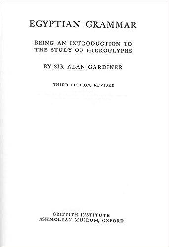 Amazon.com: Egyptian Grammar (Egyptology: Griffith Institute ...