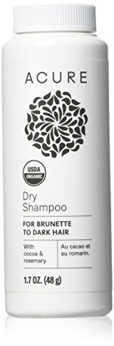 Acure Organics Dry Shampoo, Brunette to Dark Hair Acure Organics Powder, 1.7 oz.