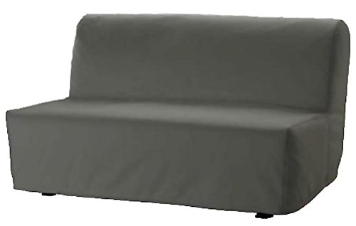 The Lycksele Lovas Sofa Bed Cover Replacement is Custom Made for Ikea Lycksele Sleeper Or Futon Slipcover. No Filling, Nor Wadding Easy to Wash (Dark Gray Cotton)