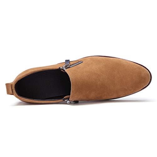 Marrone Oxford inglesi in Color uomo Scarpe casual da Pelle scamosciata pelle da classiche Nero uomo 41 EU shoes Xiaojuan Dimensione traspirante Scarpe Uomo yWSPcqBB