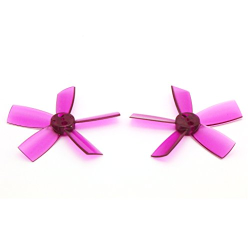8 Pairs DYS 1735 Propellers 1.7 Inch 5-Blade PC Prop for FPV RC ELF Micro Drone (Purple)