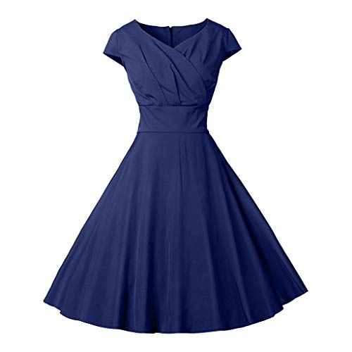 Women's Vintage Solid Spring Vintage Country Rock Cocktail Dress NY/2XL -