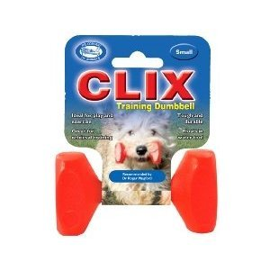 The Company of Animals CLIX Dumbbell Dog Retrieval Training Toy Floats in Water Durable for Everyday Play Large