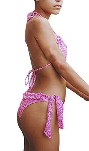 Con Bagno Motivo Donna bikini color Triangolo Claret Stampato L Costumi Size 2 Da Pezzi Pink Xinsu Per A vzSwq7yqIx