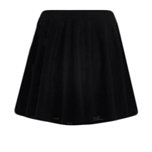 UOFOCO Skirts for Womens Pure Color High Waist Pleats Bottoming Half (Womens A-line No Pleat Skirt)