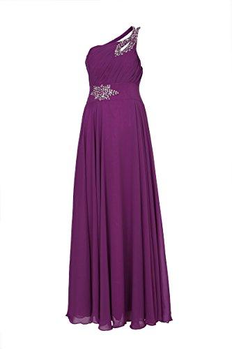 ROBLORA-Vestido de noche de Cóctel formal del vestido de boda de dama de honor Celine01 morado