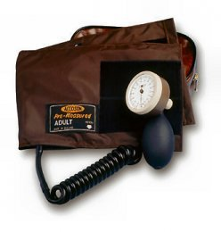 Accoson, Limpet, Aneroid Sphygmomanometer, Coiled Tube & Adult Ambidex Velcro Cuff, (0302A)