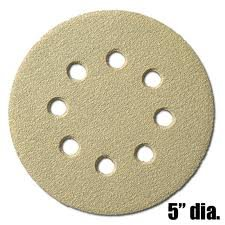 5'' Disk, Hook & Loop, 8 Hole Sanding Disks