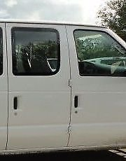 TYG Fits 92-16 Ford Econoline Passenger Right Front Hinged Body Side Door Window Glass Movable