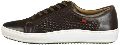 MARC JOSEPH NEW YORK Men's Leather Made in Brazil Luxury Lace-up Detail Fashion Sneaker, Brown Brushed Nappa/Weave, 13 M US