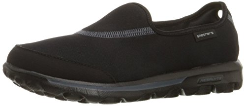 Skechers Performance Women's Go Walk Impress Memory Foam Slip-On Walking Shoe, Black, 6 M US