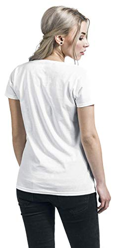 Porg Episode Last Star The Wars Blanco Big Jedi Mujer 8 Camiseta gwqaH