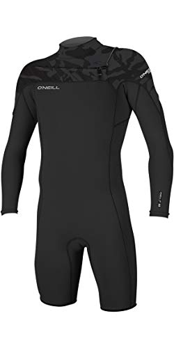 O'Neill 2019 Hammer 2mm L/S Chest Zip Spring Shorty Wetsuit Black/Jet Camo 4928 Oneill Mens Size - XS (Best 3 2 Wetsuit 2019)