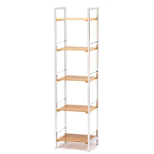 Accent Plus 5 Shelf Organizer, Decorative Tier Shelf Storage For Display Books by Accent Plus