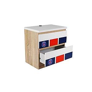 Pur Fan Table, Bois, Bleu/Rouge/Blanc, 45x44x30 4