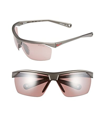 Nike Tailwind 12 Sunglasses, Metallic Pewter, with Grey Lenses Sport Sunglasses