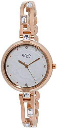 Sparkle by Raga I Am White Dial Analog Watch for Women