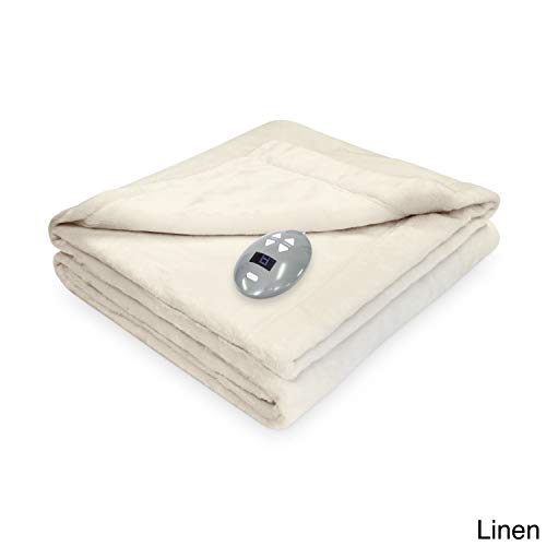 Serta Soft Heat Velvet Plush Soft Heated Electric Blanket wi