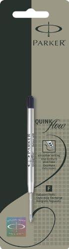 tinta negra punta mediana paquete de 3 PARKER QUINKflow Recambios de tinta para bol/ígrafos