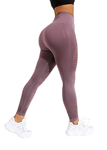 NORMOV Hollow Compression Leggings for Women-Gym Athletic Workout Tights