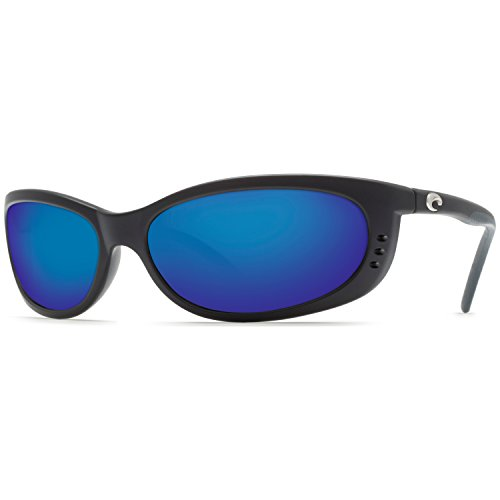 Costa Del Mar Fathom Black 580G Blue Mirror Glass With Free C-Line Black - Mar Costa Fathom Del 580