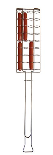 Rome Ind Chrome Plated Steel Full Pack Hot Dog Roaster, 29-Inch