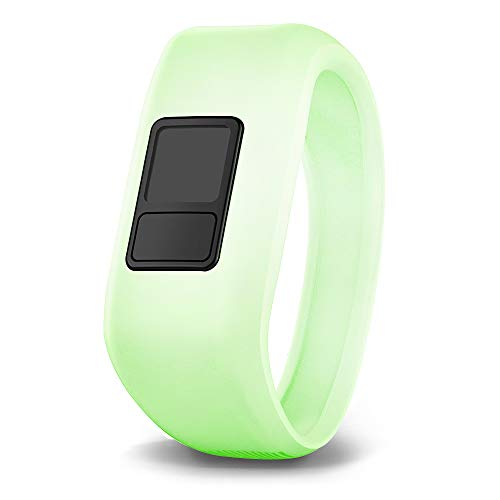 Glow In The Dark Website (iBREK for Garmin Vivofit jr/jr 2/3 Bands, Silicon Stretchy Replacement Watch Bands for Kids Boys Girls Small Large(No Tracker)-Small,Phosphorescent)