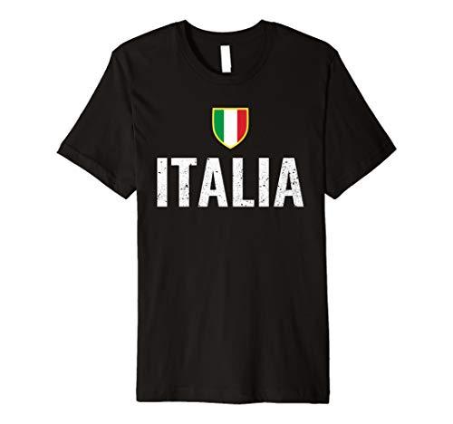 Italia Distressed Italian Flag Emblem  Premium T-Shirt